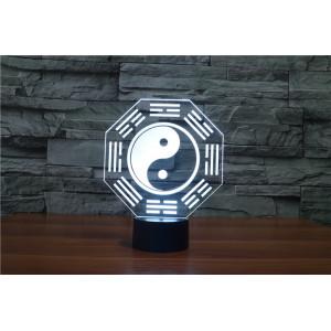 3D Лампа - Инь Янь