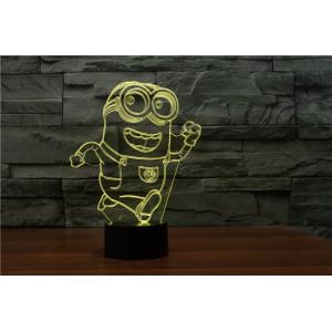 3D Лампа - Миньон бежит