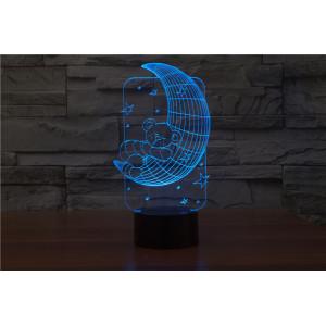 3D Лампа - Мишка на луне