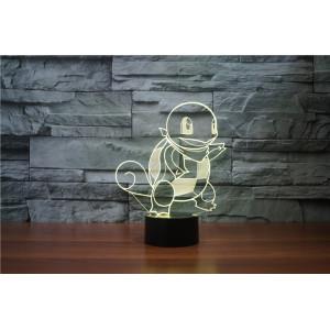 3D Лампа - Покемон Cквиртл (Pokemon Squirtle)