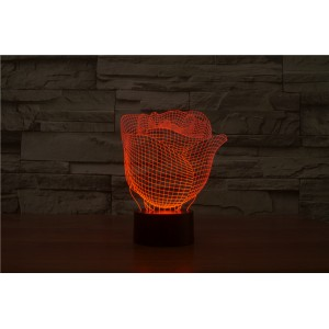 3D Лампа - Роза