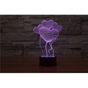 3D Лампа - Сердце на воздушном шаре