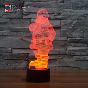 3D Лампа - Дед Мороз