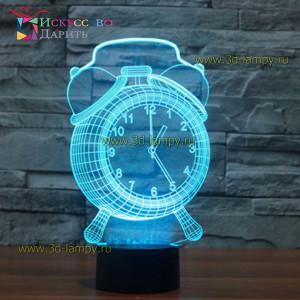 3D Лампа - Часы будильник