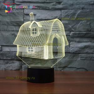 3D Лампа - Домик
